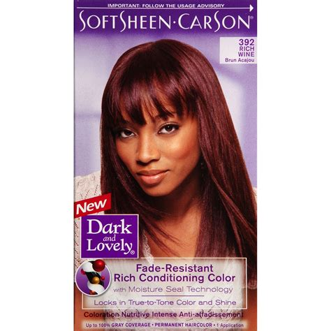 Dark And Lovely Hair Dye Color Chart Dark And Lovely