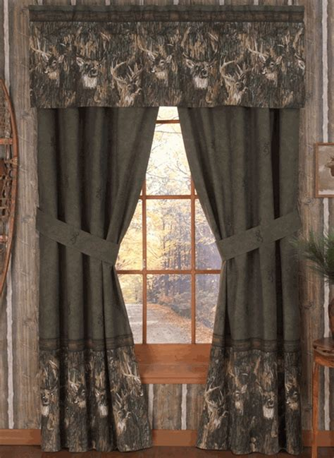 browning camouflage curtains browning whitetails valance