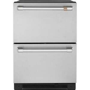 cafe cderpns   built  dual refrigerator drawers  stainless steel ebay