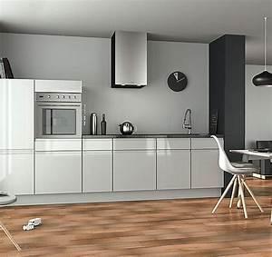 cuisine equipee blanc laque homewreckrco With modele cuisine blanc laque