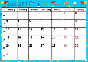 Calendar 2017 months July for Germany — Stock Vector ...