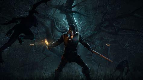 Witcher 3 Desktop Background Full Hd Wallpaper The Witcher 3 Geralt Alone Forest Desktop Backgrounds Hd 1080p