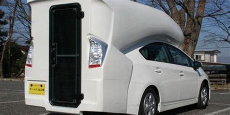 toyota prius camper conversion unveiled  tokyo auto