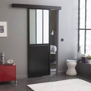 ou trouver une porte coulissante atelier style verriere With porte de garage coulissante avec porte en verre interieur