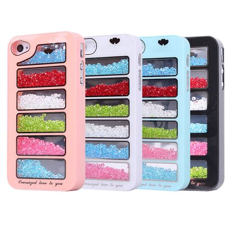 iphone 4s phone cases new bling rainbow element phone cover for