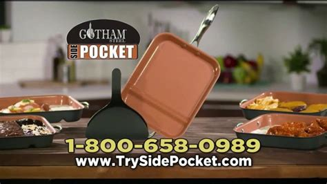 gotham steel side pocket pan tv commercial      ispottv