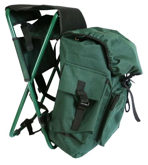 Stool Backpack - fishing pack with stool seat chair with bag