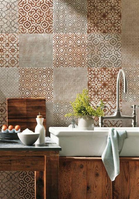 carrelage mural mosaique cuisine le plus beau carrelage dans la salle de bain style rétro