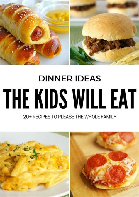 The holidays are just around the corner! 20+ Dinner Ideas the Kids Will Love