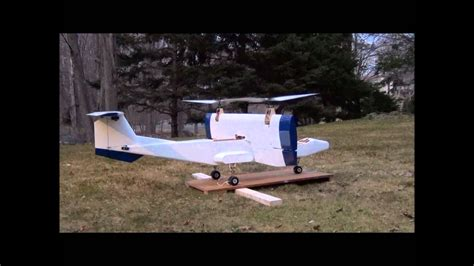 rc vtol tilt wing tie  test youtube