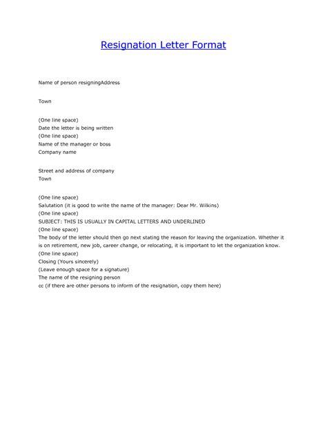 resignation letter relocation resignation