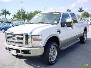 Oxford White 2008 Ford F250 Super Duty King Ranch Crew Cab