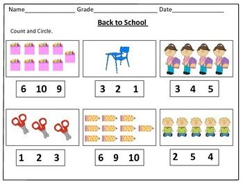 counting 1 20 worksheets back to school counting worksheets 1 20 by kids learning basket