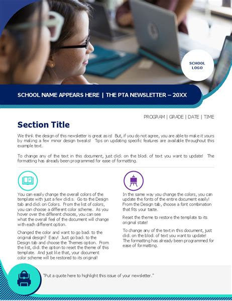 newsletter executive design  pages