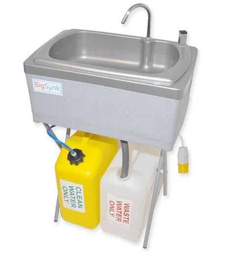 mobile hand wash sink unit bigsynk mobile sinks and portable basins for hand washing