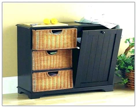 Kitchen Garbage Can Storage Tilt Out Trash Bin Cabinet