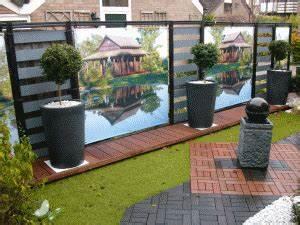 decoration pour le jardin terrasse sticker brise vue With charming toile pour terrasse exterieur 4 brise vue sur mesure