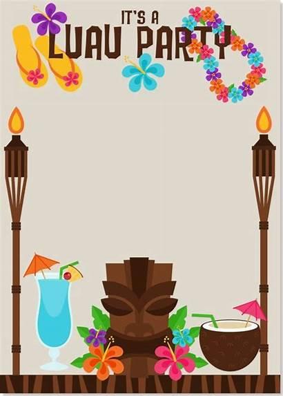 Hawaiian Invitation Luau Invitations Templates Party Tropical