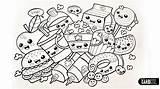 Coloring Foods Kawaii Chibi Dancing Popular sketch template