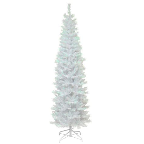 national tree company 6 ft white iridescent tinsel