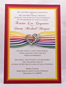 Fun and Cheery Rainbow Wedding Invitations with by InviteBling