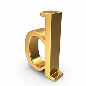 gold small letter d png images psds for download With gold letter d