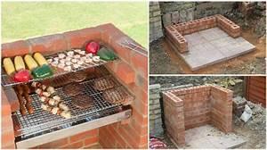 comment construire un barbecue en briques etape par etape With barbecue fait maison brique