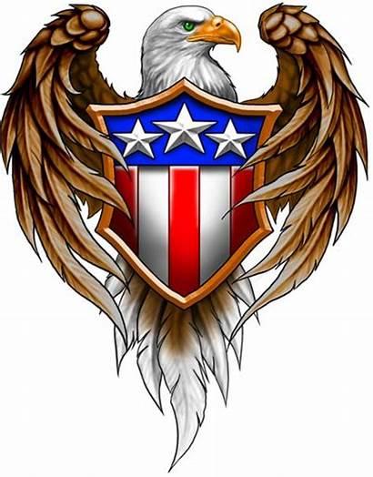Eagle Bald Tattoos American Tattoo Crest Flag