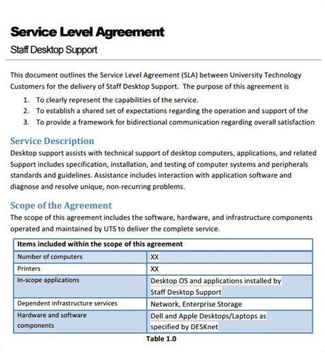 service agreement template contract agreement service