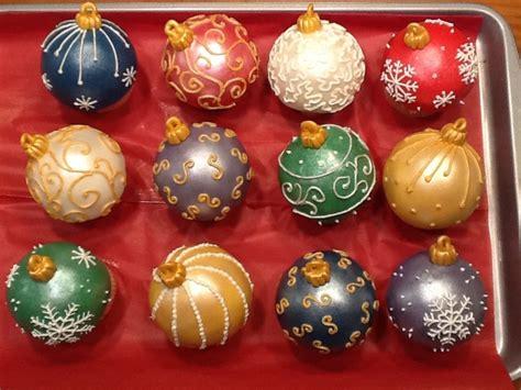 christmas ornament cupcakes cakecentral com