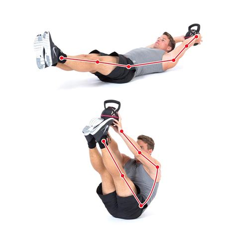 kettlebell sit exercise abs stomach flat pack
