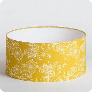 Abat Jour Moutarde : abat jour design pour lampe lampadaire ou suspension en tissu motif vintage jaune blue simone ~ Teatrodelosmanantiales.com Idées de Décoration
