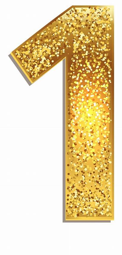 Glitter Number Clipart Gold Transparent Clipground