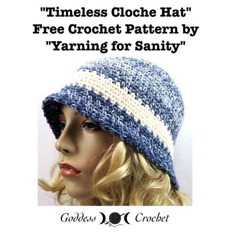 timeless cloche hat  crochet pattern goddess crochet