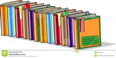 Cartoon School Books, Vector Stock Vector