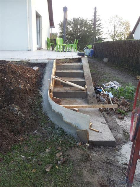 faire un escalier en beton escalier beton exterieur