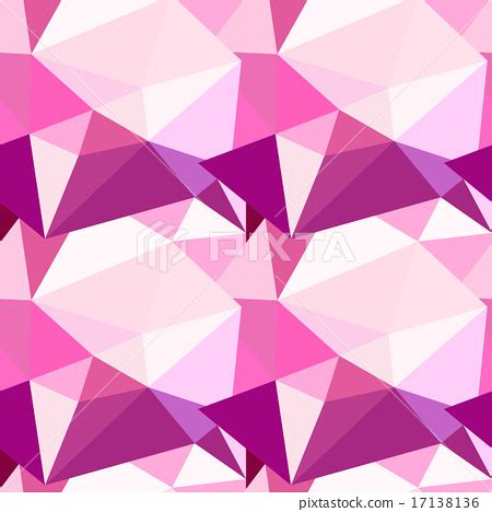 Abstract Pattern Background Pink Colors Vector Stock Vector Low Poly Seamless Pattern Abstract