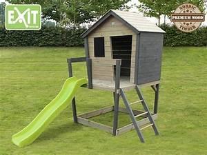 Spielhaus Mit Veranda : exit aksent spielhaus mit podest veranda rutsche material nordisches fichtenholz ma e ~ Frokenaadalensverden.com Haus und Dekorationen