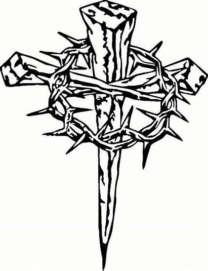 Crosses Three Drawing Cross Nails Tattoo Iron