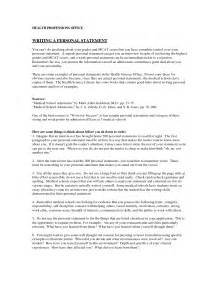 personal statement exles for personal statement exles images