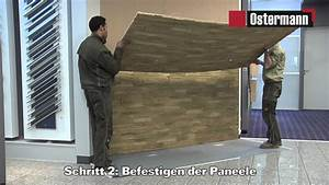 Wandverkleidung Steinoptik Innen : ostermann gfk steinpaneele verarbeitungsvideo doovi ~ Frokenaadalensverden.com Haus und Dekorationen