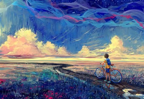 Bicycle, Artwork, Fantasy Art Wallpapers Hd  Desktop And