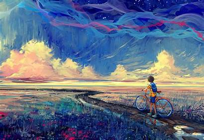 Fantasy Artwork Wallpapers Bicycle Desktop Backgrounds Nature
