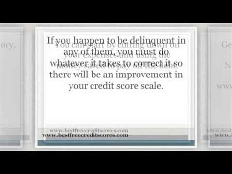 credit score scale youtube