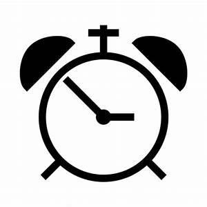 Alarm clock icon | Game-icons.net