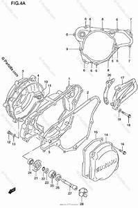 Suzuki Motorcycle 1998 Oem Parts Diagram For Crankcase