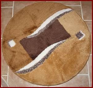 Teppich Rund Braun : badematte toffee braun bad teppich rund 80 cm durchmesser neu ~ Lateststills.com Haus und Dekorationen
