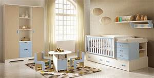 Chambre bébé garçon BC30 avec coffres de rangement GLICERIO SO NUIT