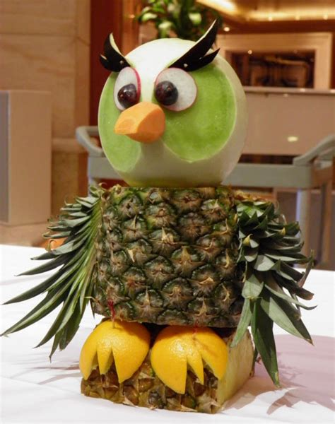 artistic fruit carving   photo