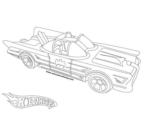 Coloring Mobil by Awesome Wheels 1966 Batmobile Coloring Page Ready To